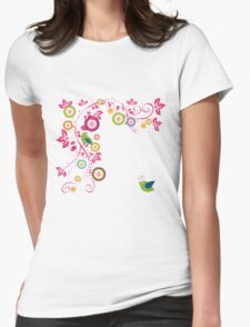 beautiful bird designs Womens Fitted T-Shirt