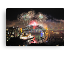 Let There Be Light #1- Sydney New Years Eve ,Australia Canvas Print