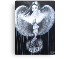 Angel Watching over Phoenix Canvas Print