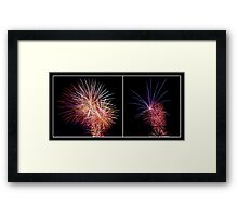 Penrith Panthers Fireworks - Diptych II Framed Print