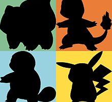Pokemon - Kanto Starter Design by NinjasInCarpets