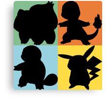 Pokemon - Kanto Starter Design Canvas Print