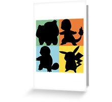 Pokemon - Kanto Starter Design Greeting Card