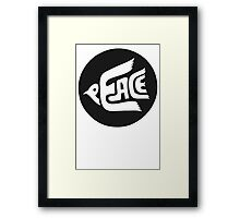 New Peace Record Stencils Framed Print