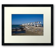 Sea beds on Crete, Greece on a clear windy day Framed Print