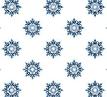 Winter pattern of snowflakes. Abstract snowy background for textiles.  by HelgaScand