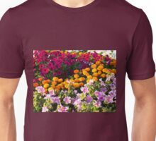 Colorful flower bed Unisex T-Shirt