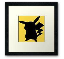 Pokemon - Pikachu Silhouette Design  Framed Print