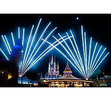 Just Do As Dreamers Do - Wishes Fireworks at Magic Kingdom Photographic Print