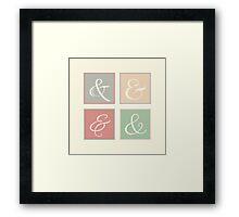 Ampersand Squares Framed Print
