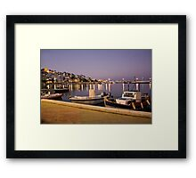 Beautiful evening on Crete, Greece Framed Print