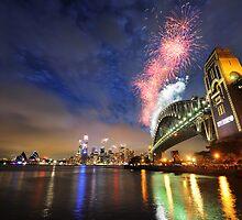 Sydney Fireworks NYE 2009 by Alex Lau