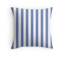 Blue and White Striped Throw Pillow Throw Pillow