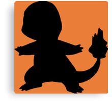 Pokemon - Charmander Silhouette Design Canvas Print