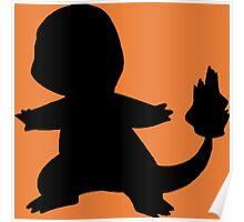 Pokemon - Charmander Silhouette Design Poster