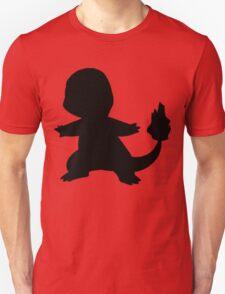 Pokemon - Charmander Silhouette Design T-Shirt