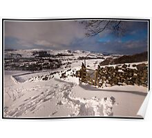 Wintery views over Settle Poster