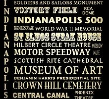Indianapolis Indiana Famous Landmarks by Patricia Lintner