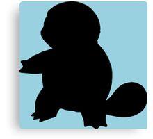 Pokemon - Squirtle Silhouette Design Canvas Print