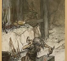 Siegfried & The Twilight of the Gods by Richard Wagner art Arthur Rackham 1911 0021 Mime at the Anvil by wetdryvac