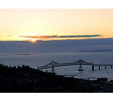Astoria-Megler Bridge Sunset Photographic Print