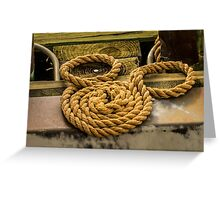 Hidden Mickey Rope Greeting Card