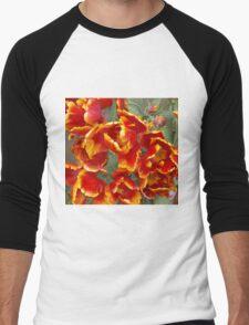 Cathedral Tulips Men's Baseball ¾ T-Shirt