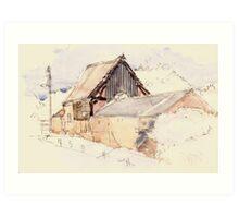 Edgmond Barn, Shropshire Art Print