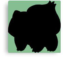 Pokemon - Bulbasaur Silhouette Design Canvas Print