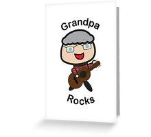 Grandpa Rocks Greeting Card