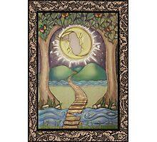 The Moon Tarot Fantasy Card Photographic Print