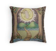 The Moon Tarot Fantasy Card Throw Pillow