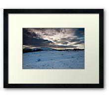 Snowy Hillls Framed Print