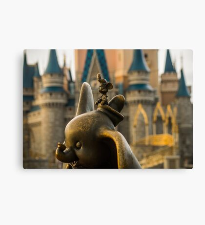 Timothy Mouse and Dumbo at Magic Kingdom Park Canvas Print