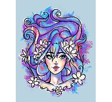 Blue Girl Photographic Print
