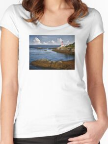 East Quoddy Lighthouse Women's Fitted Scoop T-Shirt
