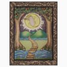 The Moon Tarot Fantasy Card by dreamlyn