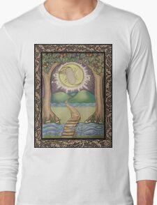 The Moon Tarot Fantasy Card Long Sleeve T-Shirt