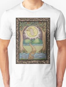 The Moon Tarot Fantasy Card Unisex T-Shirt