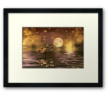 The moon and the stars Framed Print
