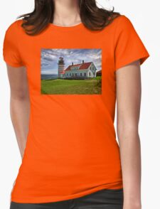 West Quoddy Head Light -Maine Womens Fitted T-Shirt