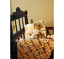 Baby Doll in Crib Photographic Print