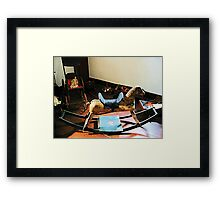 Rocking Horse Framed Print