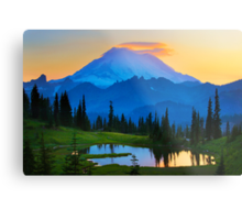 Mount Rainier Goodnight Metal Print