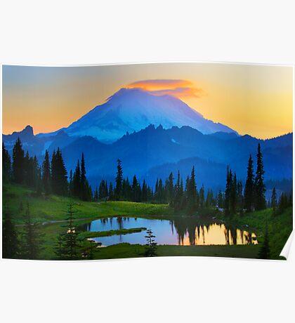 Mount Rainier Goodnight Poster