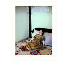 Doll on Four Poster Bed Art Print