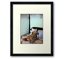 Doll on Four Poster Bed Framed Print
