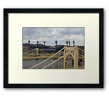 Bridges and  PNC Park  Framed Print