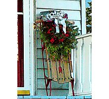 Sled on Porch Photographic Print