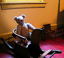 Teddy Bear and Rocking Horse by Susan Savad